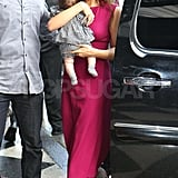 Victoria Beckham with Harper in NYC.