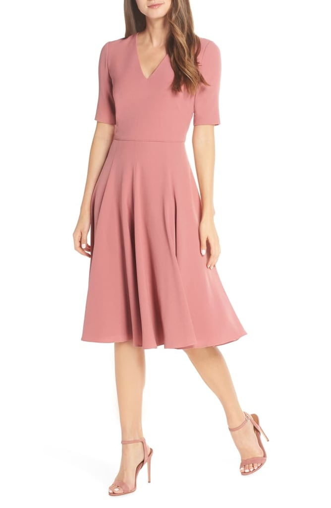 Gal Meets Glam Collection Edith City Crepe Fit Amp Flare
