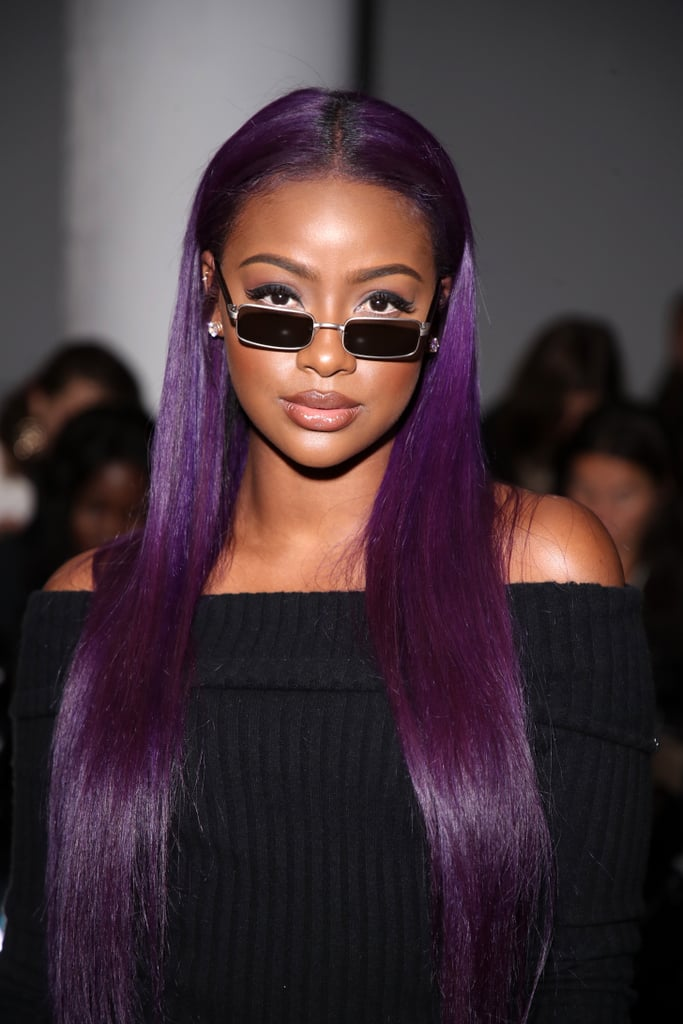 Purple Perfection Best Hair Colors For Dark Skin Popsugar Beauty