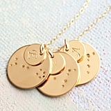 Zodiac Constellation Necklace With Initials