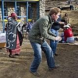 Harry With Schoolchildren in Lesotho in June 2010