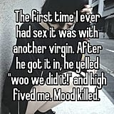 First-Time Sex Confessions