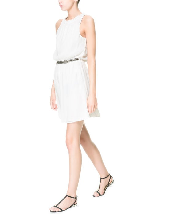 With a little embellishment at the waist, this Zara dress ($40) requires little else to get dressed up.