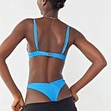 The high cut of the TWIIN Surge Ribbed V-Shape Bikini Bottom ($39) is certainly striking.