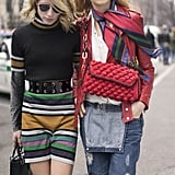 Belted Stripes or Undone Dungarees and a Silk Scarf