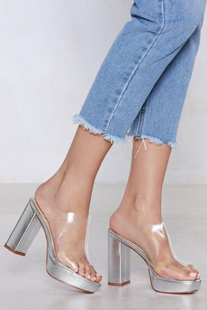 Nasty Gal Coast Is Clear Metallic Mules