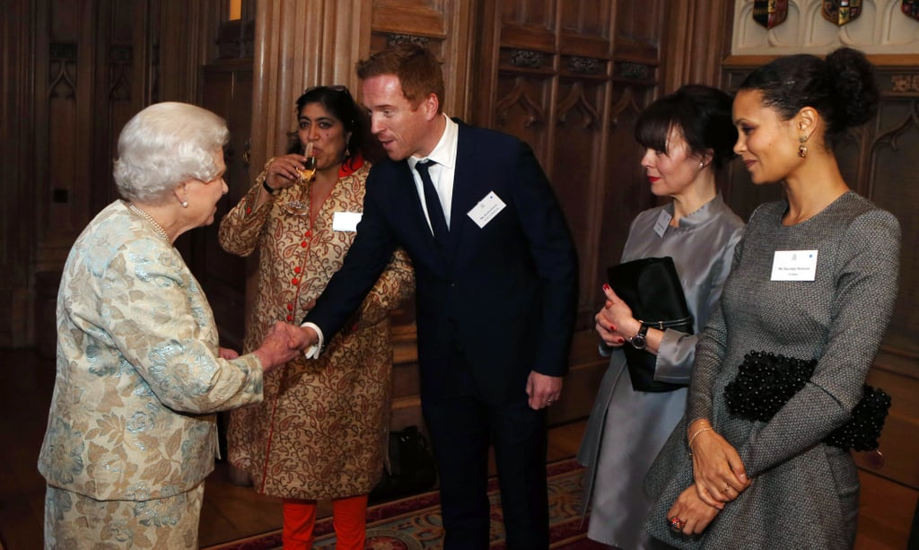 Damian Lewis got to meet Queen Elizabeth at a reception for the British film industry in Berkshire, England, in April 2013.