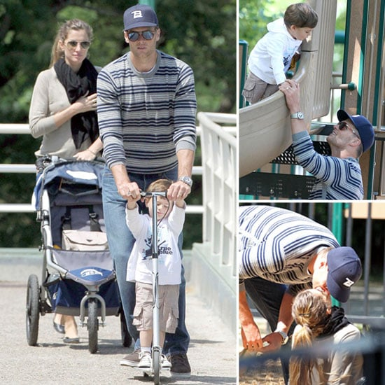 Gisele and Tom Brady at Boston Park With Ben Pictures