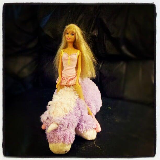 Just Barbie Riding a Unicorn