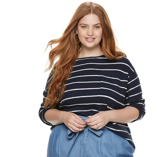 Plus Size POPSUGAR Pocket Pullover Sweater
