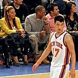 Beyoncé and Jay-Z watched Jeremy Lin.