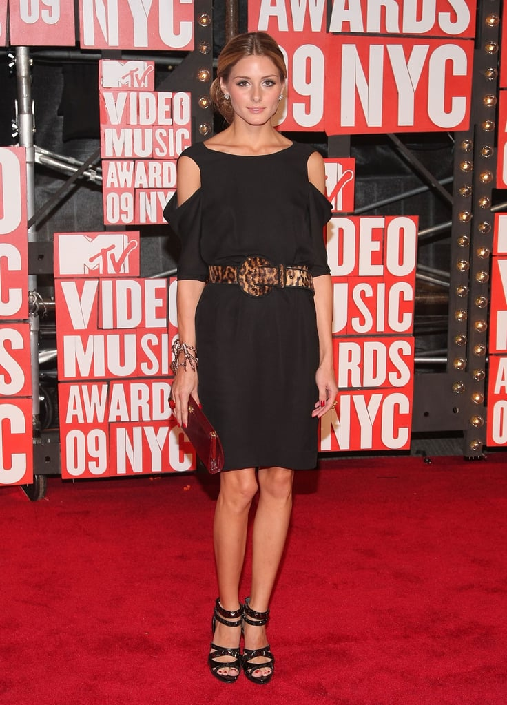 Olivia's LBD got a jolt of sexy via shoulder cutouts and a leopard-print belt at the VMAs in 2009.