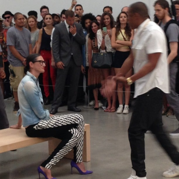 "Jenna Lyons had a front-row seat for Jay-Z's six-hour ""Picasso Baby"" rapathon in NYC. Source: Instagram user gilt"