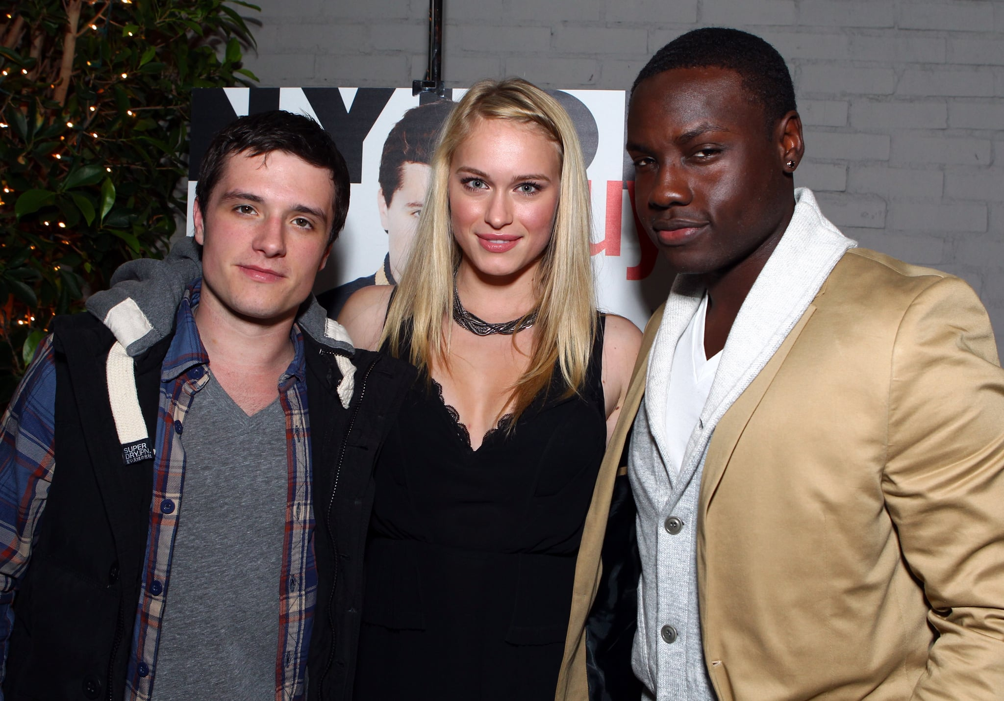 Josh Hutcherson had his costars Leven Rambin and Dayo Okeniyi on hand to celebrate his cover.