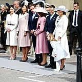 Princess Sofia, Princess Madeleine, and Princess Victoria All Stepped Out in Light Coats and Fancy Headgear