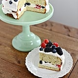 Lemon Poppy Seed Cake With Mascarpone Frosting and Fresh Berries