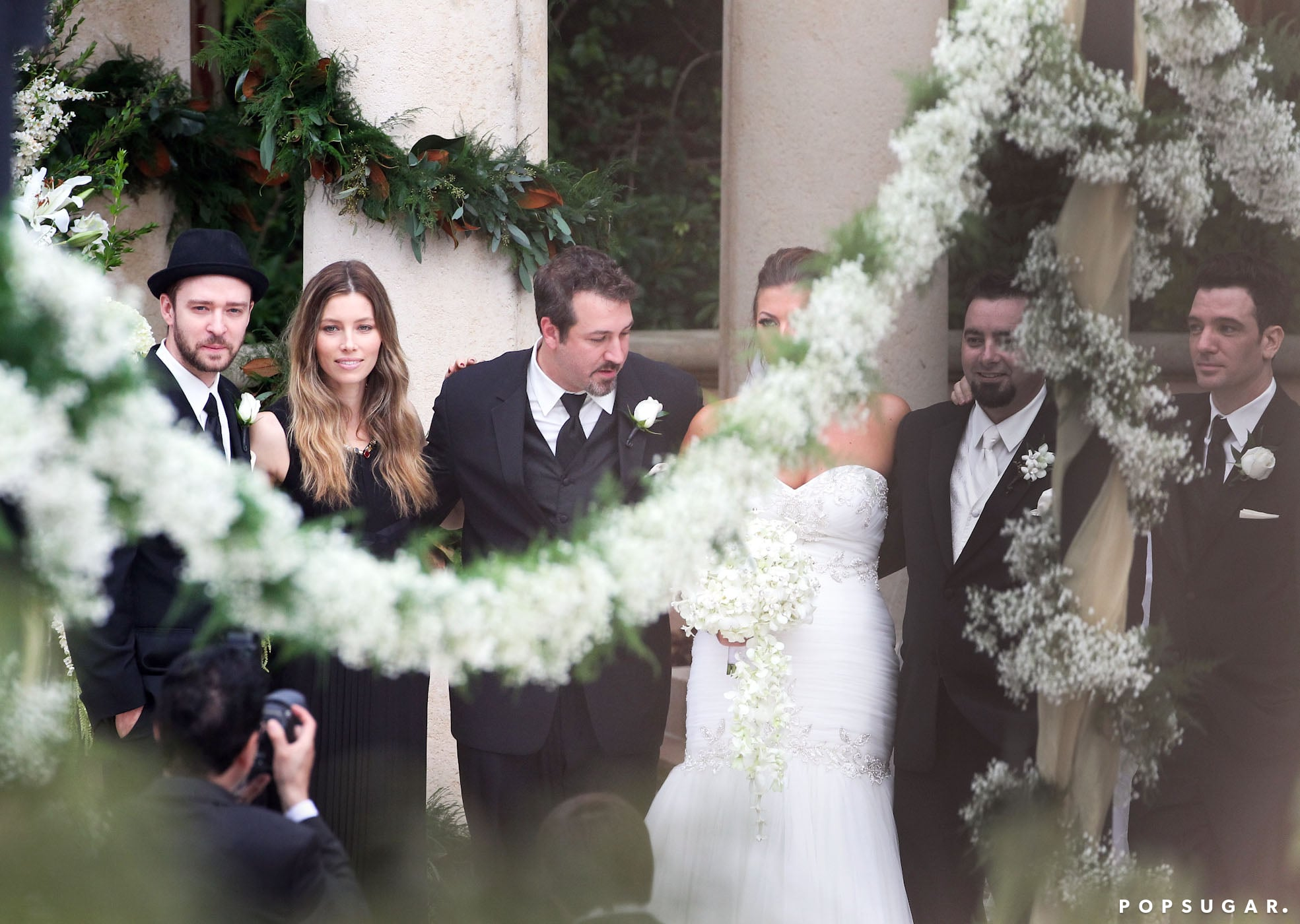 Chris Kirkpatrick married Karly Skladany in front of his former *NSYNC bandmates.