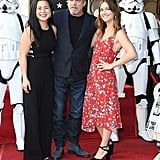 Pictured: Kelly Marie Tran, Mark Hamill, and Billie Lourd.