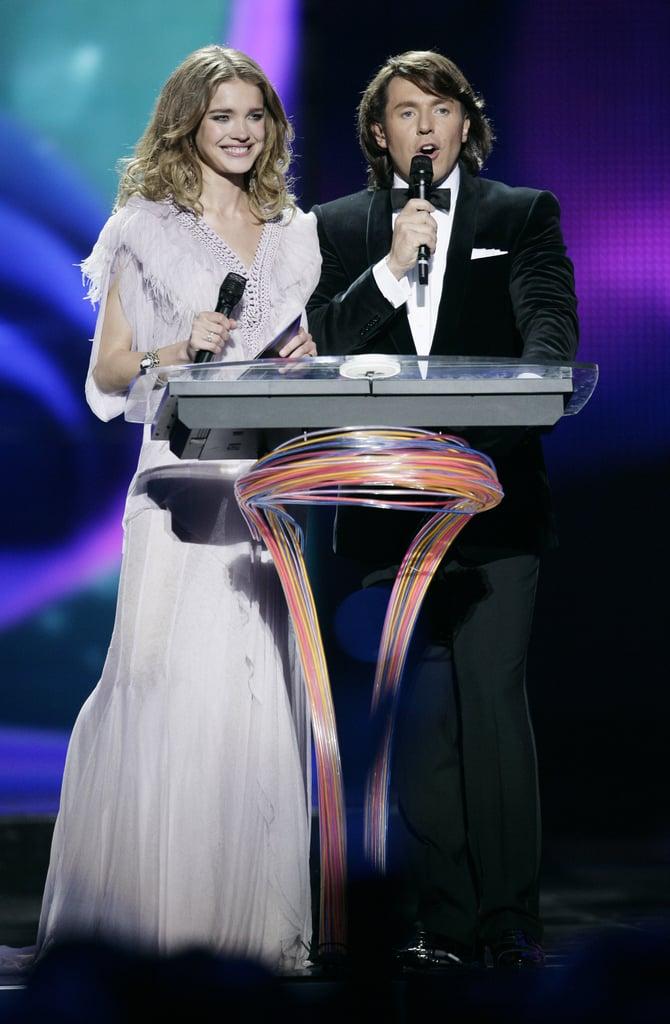 Natalia Vodianova and Dita Von Teese at Eurovision 2009