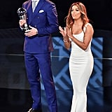Eva Longoria's White Dress at the 2017 FIFA Awards