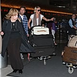 Cameron Diaz let someone else pass at LAX.