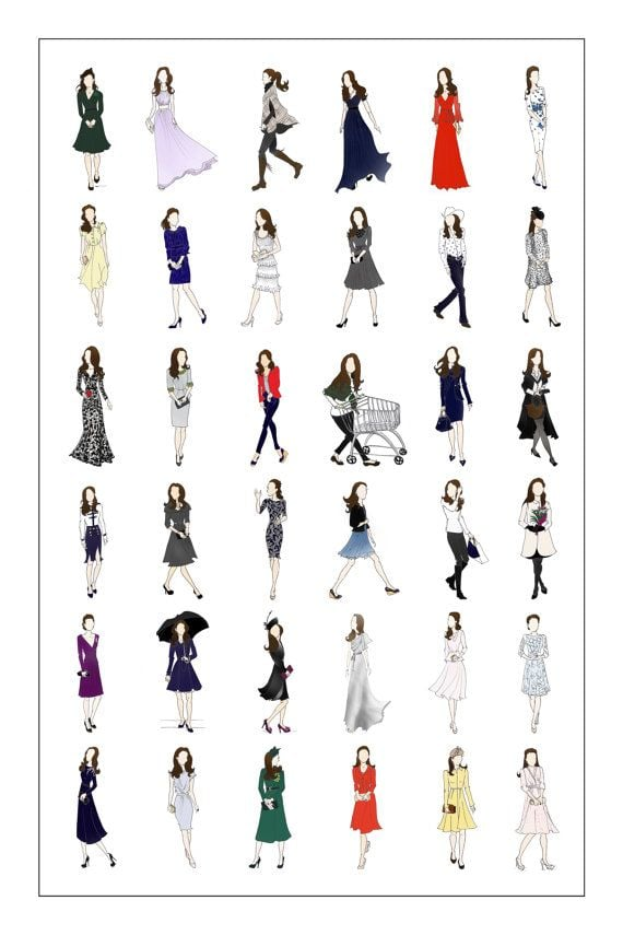 Duchess of Cambridge Fashion Poster
