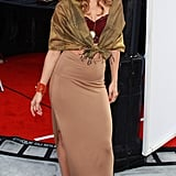 AnnaLynne McCord showed off her high slit at the Iris premiere.
