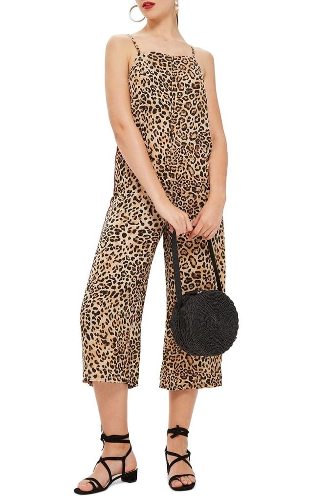 Topshop Animal-Print Satin Jumpsuit | Best Leopard-Print Clothes ...