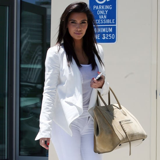 Kim Kardashian Wearing All White Outfit