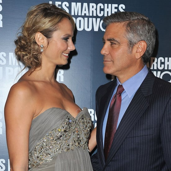 George Clooney and Stacy Keibler Holding Hands in Paris