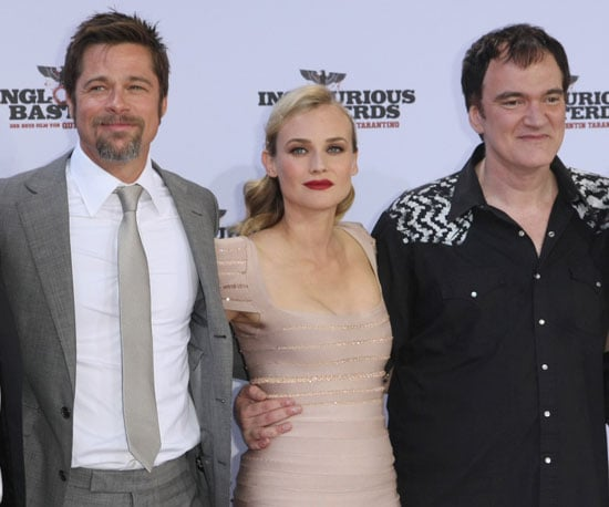 Slide Photo of Diane Kruger, Brad Pitt, Quentin Tarantino at Inglourious Basterds Premiere in Berlin
