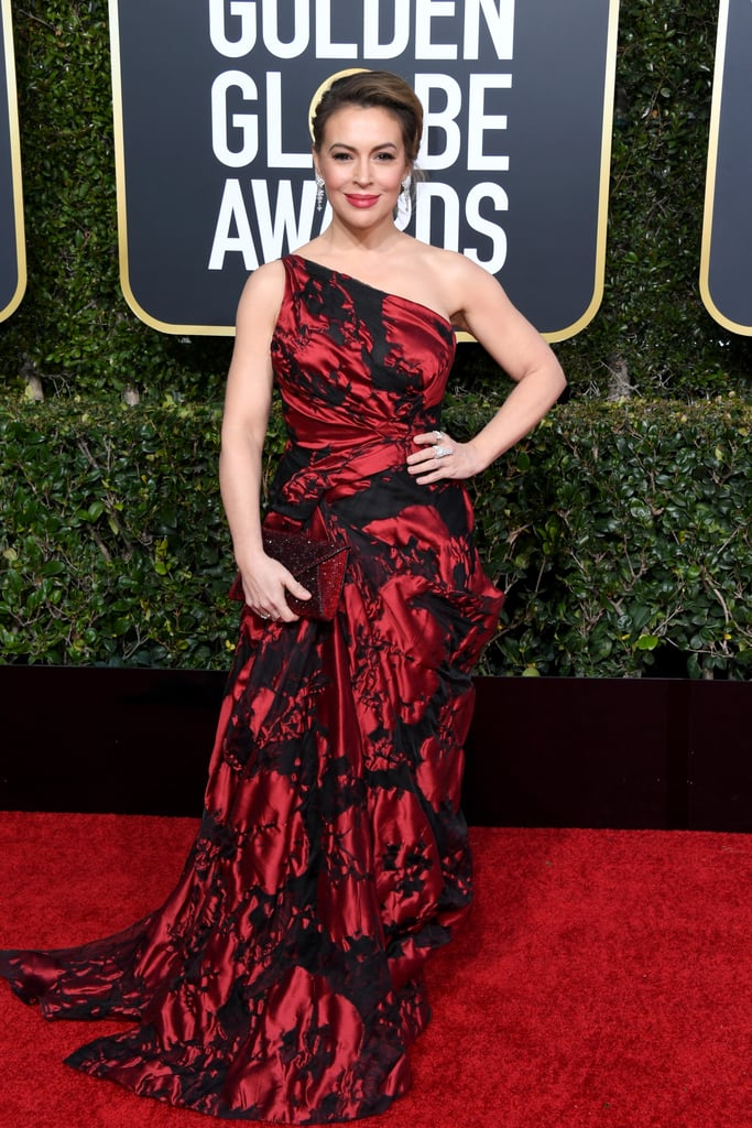 Alyssa Milano at the 2019 Golden Globes