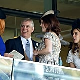 Sarah and Andrew had a lighthearted conversation during Royal Ascot in 2015.