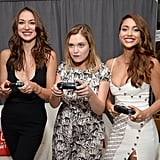 Pictured: Tasya Teles, Eliza Taylor, and Lindsey Morgan.