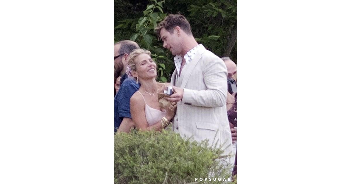 Chris Hemsworth And Elsa Pataky At Brother's Wedding 2018
