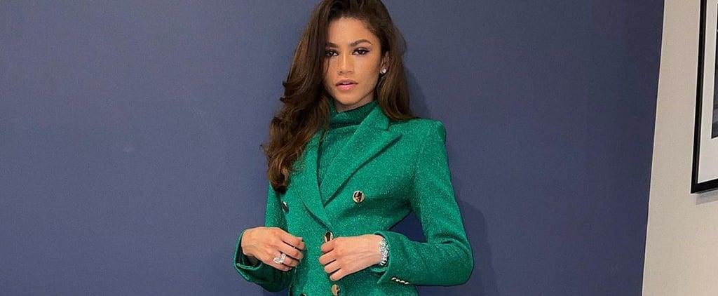 Zendaya Wears Green Pertegaz Suit For Film Festival