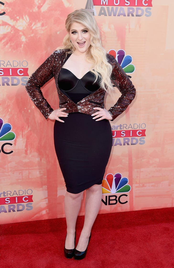 Meghan Trainor Celebrities On Red Carpet At Iheartradio