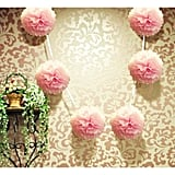 Light Pink Hanging Tissue Paper Flower Pom Poms