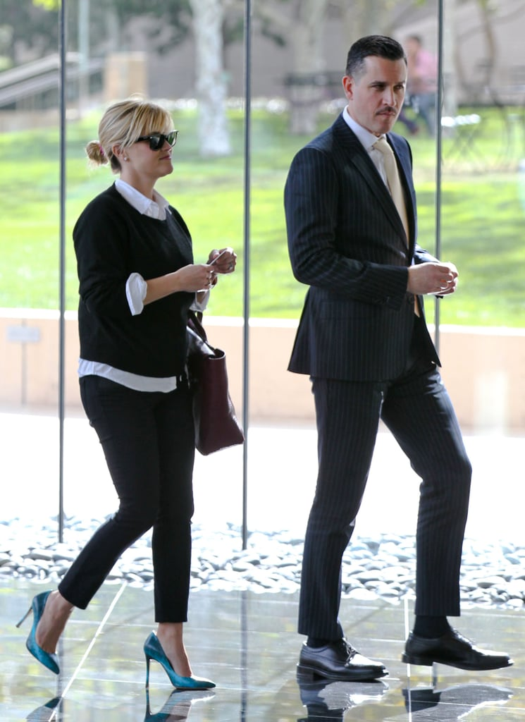 Reese Witherspoon and a Dapper Jim Toth Hit the Town For Lunch
