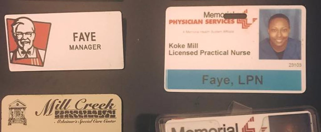 The Empowering Story Behind This Picture of a Nurse's Employee Badges