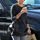 Miley Cyrus drank an iced coffee from Starbucks.