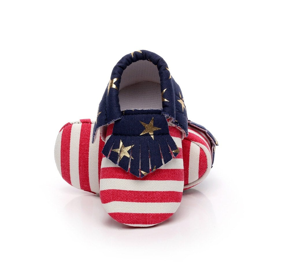 American Flag Baby Moccasin