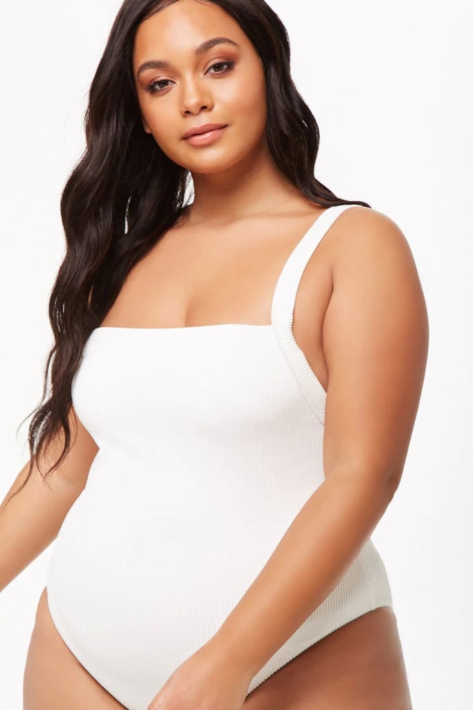 Forever 21 Plus Size Ribbed One-Piece Swimsuit