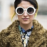 When you've got electric yellow strands in your hair, it could be hard to figure out your makeup look. But a toned-down palette, like Preetma Singh showed off, is the perfect pairing. Source: Le 21ème   Adam Katz Sinding