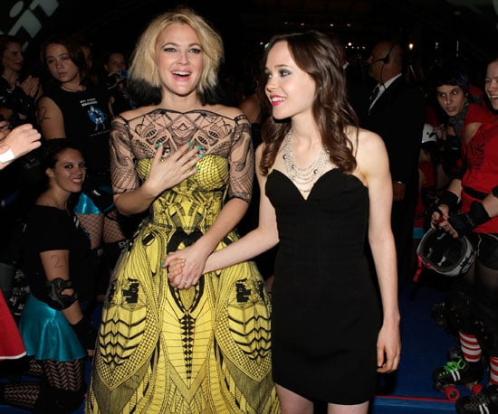 Slide Photo of Drew Barrymore, Ellen Page at Whip It Premiere for 2009 Toronto Film Festival