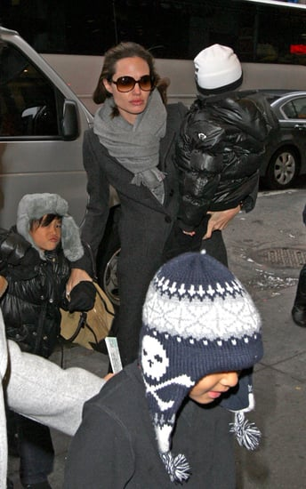Brad and Angie take the kids to a performance of ''Mary Poppins'' on Broadway