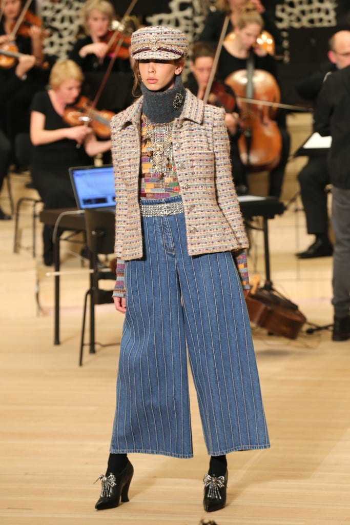 These Embroidered Culottes Are Karl's New Take on Chanel Denim