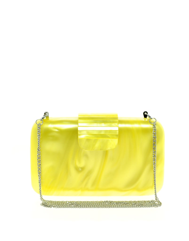 This perspex clutch would be a welcome addition to our Spring wardobe.  French Connection Perspex Clutch Bag ($218)
