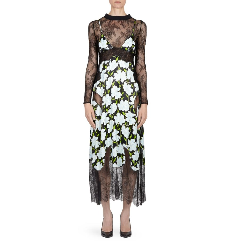 Off-White Floral Lace Dress