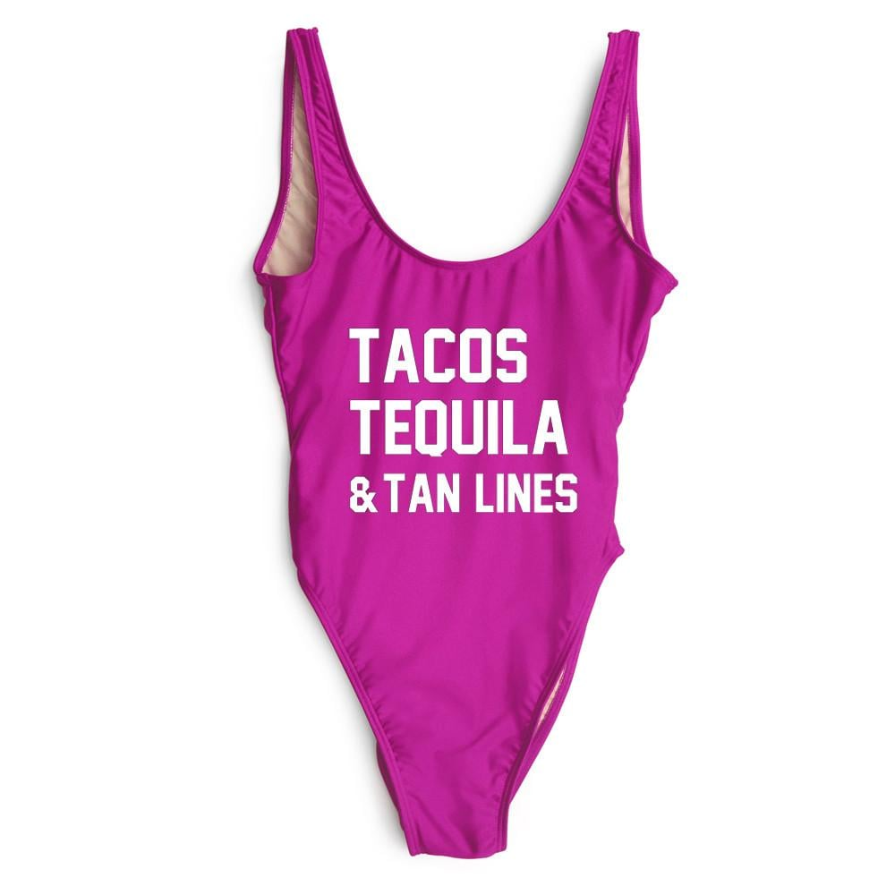 Tacos Tequila and Tan Lines Swimsuit